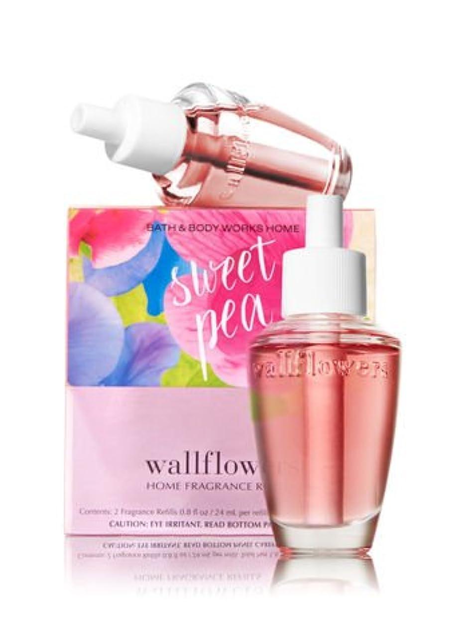 気味の悪いモチーフ素晴らしさ【Bath&Body Works/バス&ボディワークス】 ホームフレグランス 詰替えリフィル(2個入り) スイートピー Wallflowers Home Fragrance 2-Pack Refills Sweet Pea [並行輸入品]
