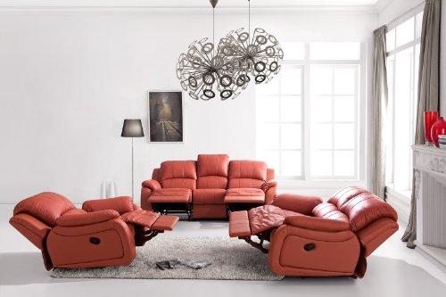 Voll-Leder-Relax Fernsehsofas-Polstermöbel-Sessel Fernsehsessel 5129-3+2+1-206