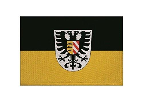 U24 Aufnäher ALB-Donau-Kreis Fahne Flagge Aufbügler Patch 9 x 6 cm