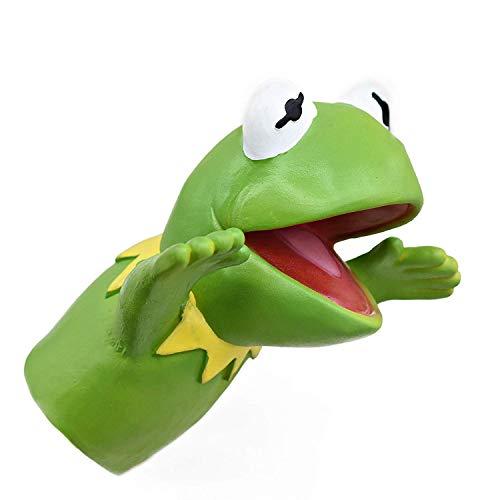 Yolococa Kermit Frosch Handpuppe Realistischer Tierkopf aus Weichem Gummi Geschenke Spielzeug für Kinder