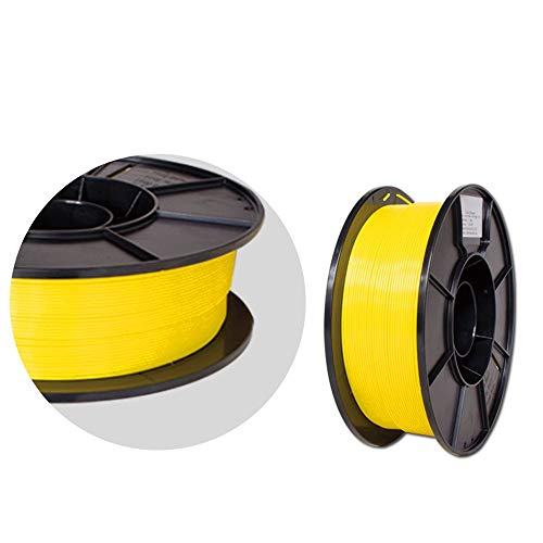 SHENLIJUAN 3D Printer 1.75mm Filament PLA 3D Printing PLA Filament 1KG Spool for 3D Printers 3D Pens (Blue Purple Yellow Orange) (Color : Yellow, Size : Free)