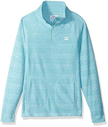 BILLABONG Mädchen Morning Call Girls Fleece Fleecejacke, Nile Blue, X-Large