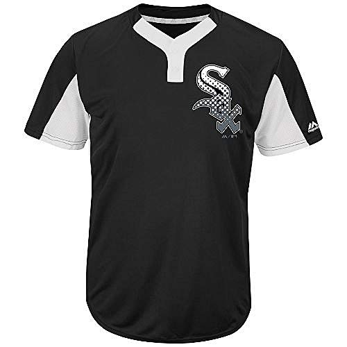 Blank Back Adult XL Chicago White Sox 2-Button Placket Cool-Base Licensed Jersey