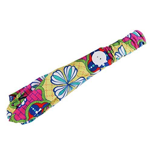 Bandas de cabeza estampadas con botón para enfermeras, diadema para yoga, entrenamiento, turbante elástico para deporte, mujeres, enfermeras, médicos y todos, amarillo, talla única