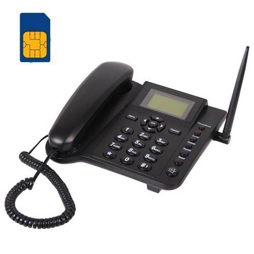 BW 2.4'' Wireless Quadband GSM Classic Desk Telephone Telephone handset for Business or Family (Especially for Older Folk) - Black