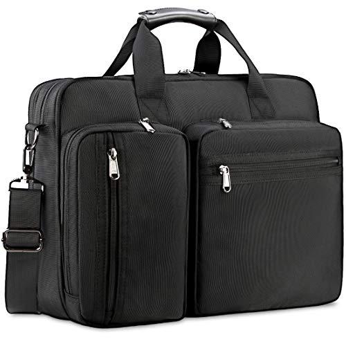NEWHEY Maletín Hombre Portafolios para Hombre Maletin 15.6 Pulgadas Bolsa para Laptop Bolsa de Mensajero…