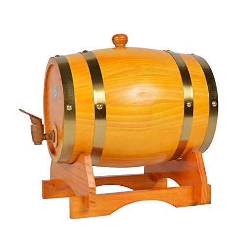 ZHhome Weinfass Holz Weinfass, Eichenfass, Weinglas, Ovales Weinregal, Weinfass Aus Massivholz, 3L5L10L15L20L weinfässer (Capacity : 5L, Color : H)