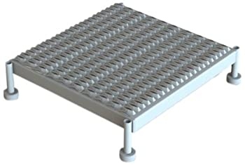 Tri-Arc WLOS524242 5-Inch to 8-Inch Adjustable-Height One Step Steel Work Platform with Grip Strut 24-Inch Wide x 24-Inch Long