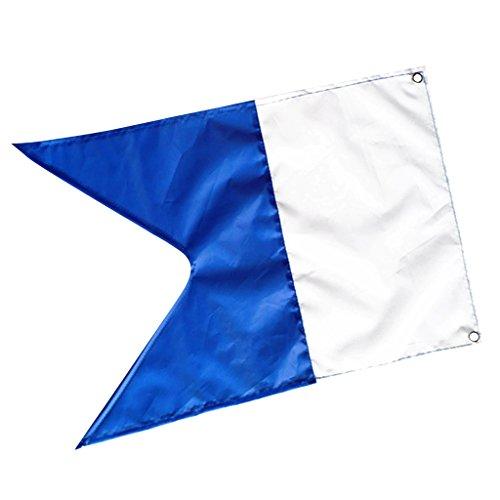 Taucherflagge Wassersport blau-weiße...