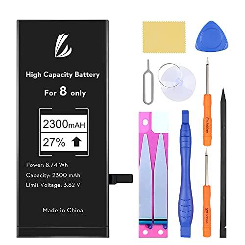 LL TRADER Batteria per iPhone 8 (A1863, A1905, A1906), 2300 mAh Alta Capacità Batteria di Ricambio in Li-ion, Strumenti di Riparazione Completi con Kit Sostituzione