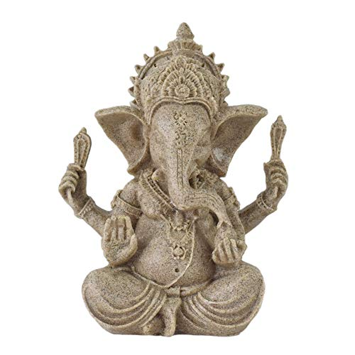 OMEM Reptile Decorations Ganesh Buddha Statue Ornaments Home Decorations Gift (S)