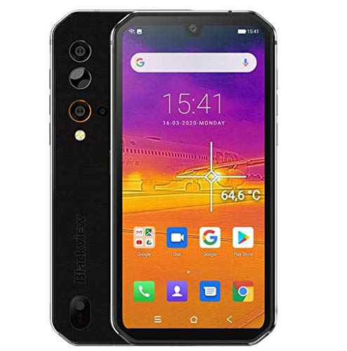 Outdoor Handy (2020) Blackview BV9900, Helio P90 8 GB + 256 GB, 48 MP Quad-AI-Kamera, IP68 Robustes Smartphone ohne Vertrag Wasserdicht, 5,84 Zoll FHD + Gorilla-Glas 5, Drahtlose Ladung NFC Silber