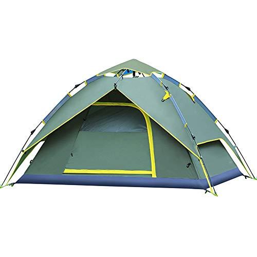 3-4 personen campingtent, zonnecrème automatische pop-up tent, buiten snel openen en regenvaste tent.