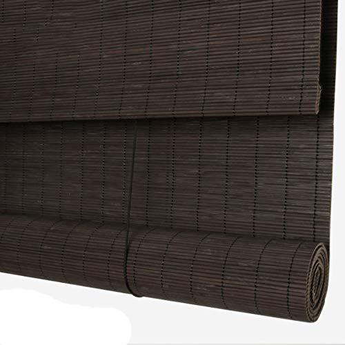 Roller blind Lxn Persianas de Ventana de bambú, filtra Suavemente la