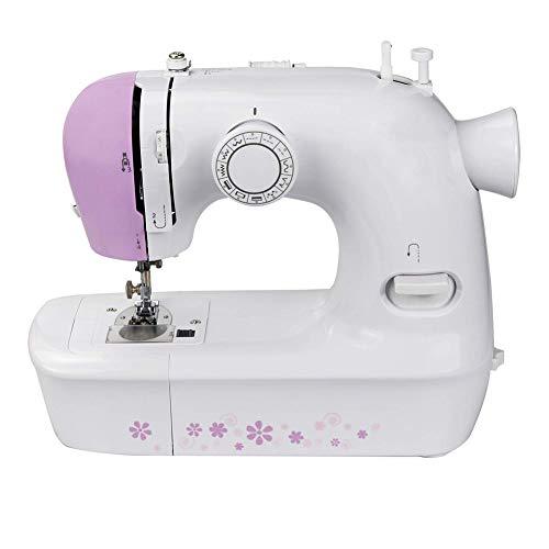 lxfy - Máquina de coser eléctrica para principiantes, con 12 puntos y brazo libre, mini máquina de coser portátil sin batería incluida