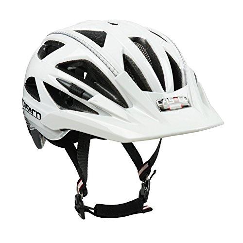 Fahrradhelm Casco Activ 2, weiß-schwarz - Biese silber, Gr. L (58-62 cm)