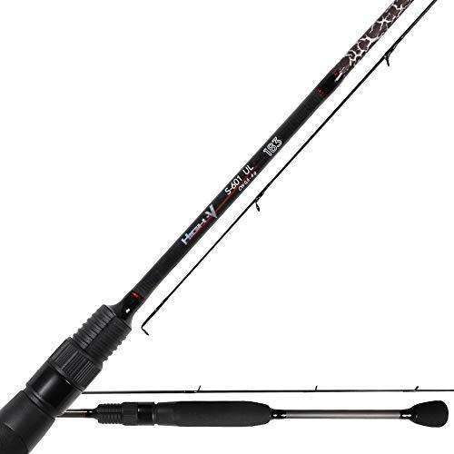 Saeger Unisex– Erwachsene 10C4039507209162C10 Iron Claw High-V S-601UL 1,83m 0,5-6g-Ultra Light Rute zum leichten Spinnfischen auf Barsche & Forellen, Spinnrute, Barschrute, Bunt, Normal
