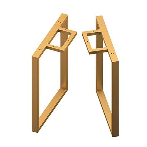 Patas de gabinete muebles de pies Conjunto de piernas de mesa de 2 patanas de acero industrial de acero cuadrado bricolaje muebles de mesa patas de mesa de café pies con almohadilla de pie ajustable