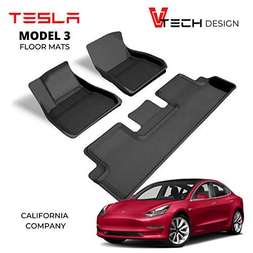 V Tech Design Tesla Model 3 Floor Mats - 2020 -...