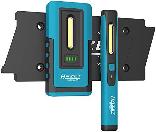 HAZET LED Inspektionslampen-Satz (Pocket Pen Light inklusive Ladepad für Zwei Lampen) 1979NW/3, schwarz-blau