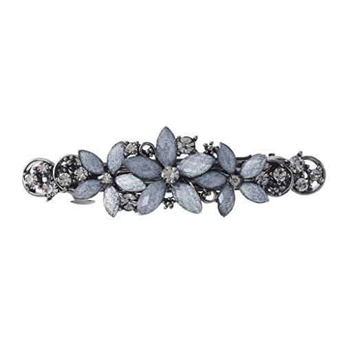 GYZX Broche for el Cabello de Novia Barrette Vintage Romancing Rhinestone Crystal (Color : A)