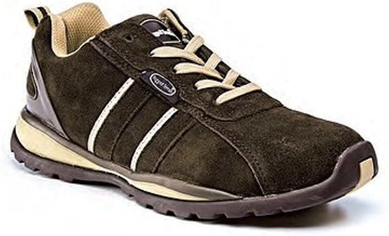 Brown & Cream Suede Unisex Safety Trainers - Choice of Sizes Available (Size 13) - Ref SFW04 13
