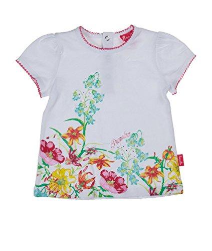 Pampolina Baby - Mädchen T-Shirt t-shirt 1/4 sleeves, Weiß (bright white white 1000), 68