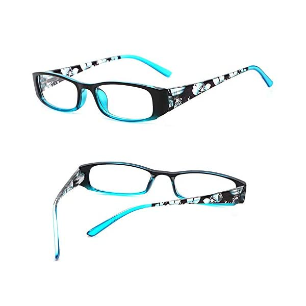 VVDQELLA Computer Reading Glasses, 2 Pair Blue Blocking Reading Glasses for UV Protection Spring Hinges