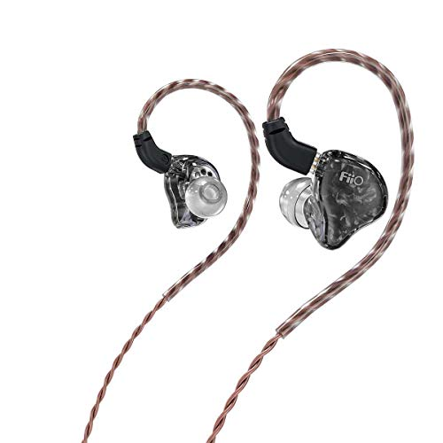 FiiO FH1s HiFi 1BA(Knowles)+1Dynamic Hybrid Earphone IEM Stereo Bass Earphone with 0.78 2pins High Purity monocrystalline Cables(Without Mic,Black)