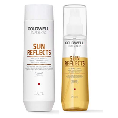 Goldwell Dualsenses Sun Reflects Set - After-Sun Shampoo 250ml + UV Protect Spray 150ml