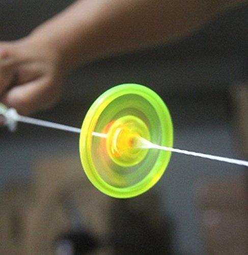 uchic 5unidades Nueva mano Pull Luminous HOTcraze-DE cuerda Volante de inercia juguete Leuchten novedad Juguetes para niños Cumpleaños divertido regalo Mix Color