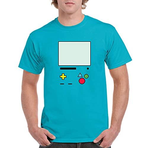the Fan Tee Camiseta de Hombre Hora de Aventuras Jake Finn Consola 018 3XL