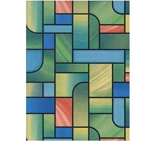 Bunte Fensterfolie Church Adhesive - Klebefilm Bleiglas Look 0,45 m x 2 m bunt