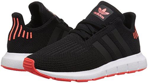 adidas Originals Unisex Swift Running Shoe Black/Solar Red, 4 M US Big Kid