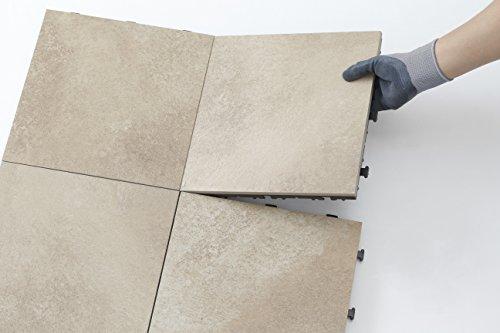 タカショー(Takasho)敷くだけタイル磁器サンドベージュ9枚セット約W30×D30×H2.8cm