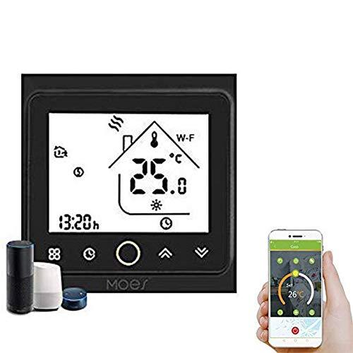 Decdeal Termostato WiFi per Caldaia a Gas/Acqua - Thermostat Intellight Programmabile, Supporto APP/Controllo Vocale, Compatibile con Alexa/Google Home, 5A, GC