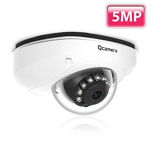 Q-camera Dome Telecamera Di Sicurezza 5MP TVI/CVI/AHD/CVBS Sensore Da 1/2.5 2.8-12mm Varifocale Lente Vandal-Proof 45Ft 15Led IR Visione Notturna Sistema Di Sorveglianza Telecamera Per Interni Esterna