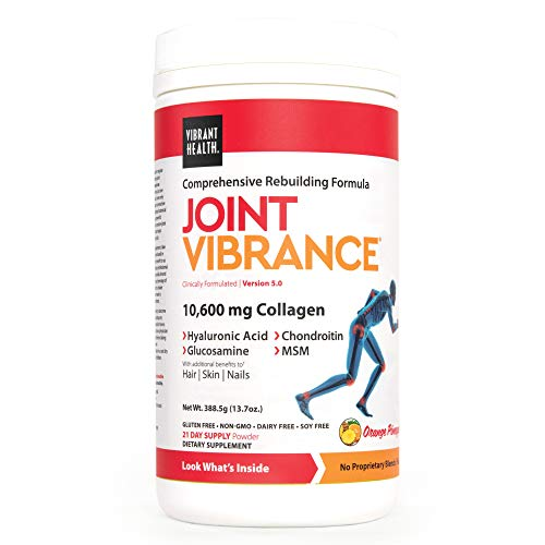 Vibrant Health, Joint Vibrance, Comprehensive Rebuilding Formula with Collagen, Chondroitin, Glucosamine and MSM, Non-GMO, 21 Servings (FFP)
