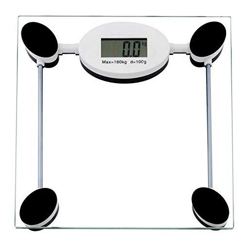 PRWJH Pèse-personne numérique, balance de poids pour diète pour gros corps humain, santé personnelle humaine, balance de salle de bain, 180Kg