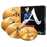 Zildjian A391 A Series Cymbal Box Set - 14' New Beat Hi-Hats, 16'/18' Medium Thin Crash, 21' Sweet Ride, 4 Paquetes