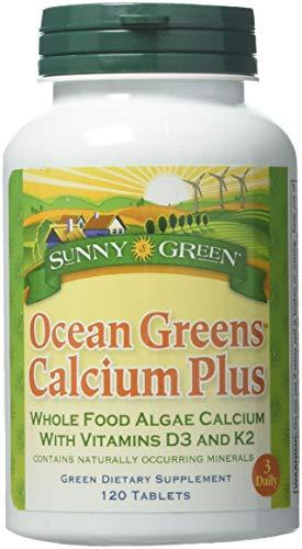 Sunny Green Ocean Greens Calcium Plus, 120 Count