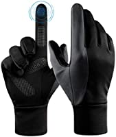 Winter Thermal Gloves with Touch Screen Fingers - Windproof Water Resistant Warm Glove for Running Cycling Driving Snow...