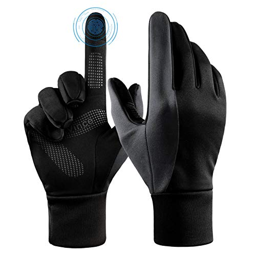 Insulated Gloves Touch Screen Winter Thermal Glove - Windproof Water Resistant for Running Cycling Driving Phone Texting Outdoor Hiking Climbing in...