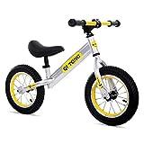 K-G Vélo Enfants Draisienne Pas de pédale avec Bell et Frein à Main for 2-6 Year Old Enfants, 6,5 kg (12 Pouces) ( Color : Yellow )