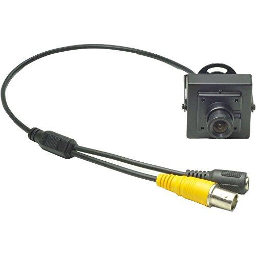 Ansice - Mini telecamera di sicurezza con obiettivo grandangolare da 3,6 mm, 540TVL CMOS con filtro CCTV, telecamera nascosta con foro stenopeico