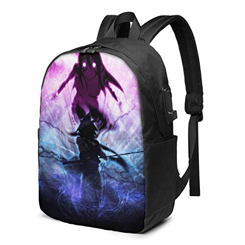 Hdadwy 17-Inch Backpack with USB Port Soul Eater Backpack for Any Travel
