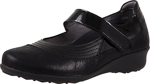 Drew Shoes Genoa 14316 Women's Casual Shoe: Black Suede 8 Wide (D) Velcro