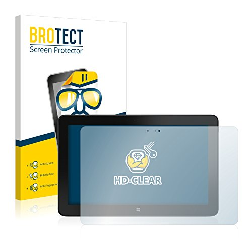 BROTECT Schutzfolie kompatibel mit Dell Venue 11 Pro 7140 (2013-2014) (2 Stück) klare Bildschirmschutz-Folie