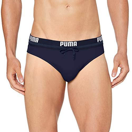 PUMA Logo Men's Swimming Brief Bañador, Marina, M para Hombre