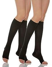 Relaxsan Basic 950A - 280 denier open-toe firm support knee high socks 22-27 mmHg